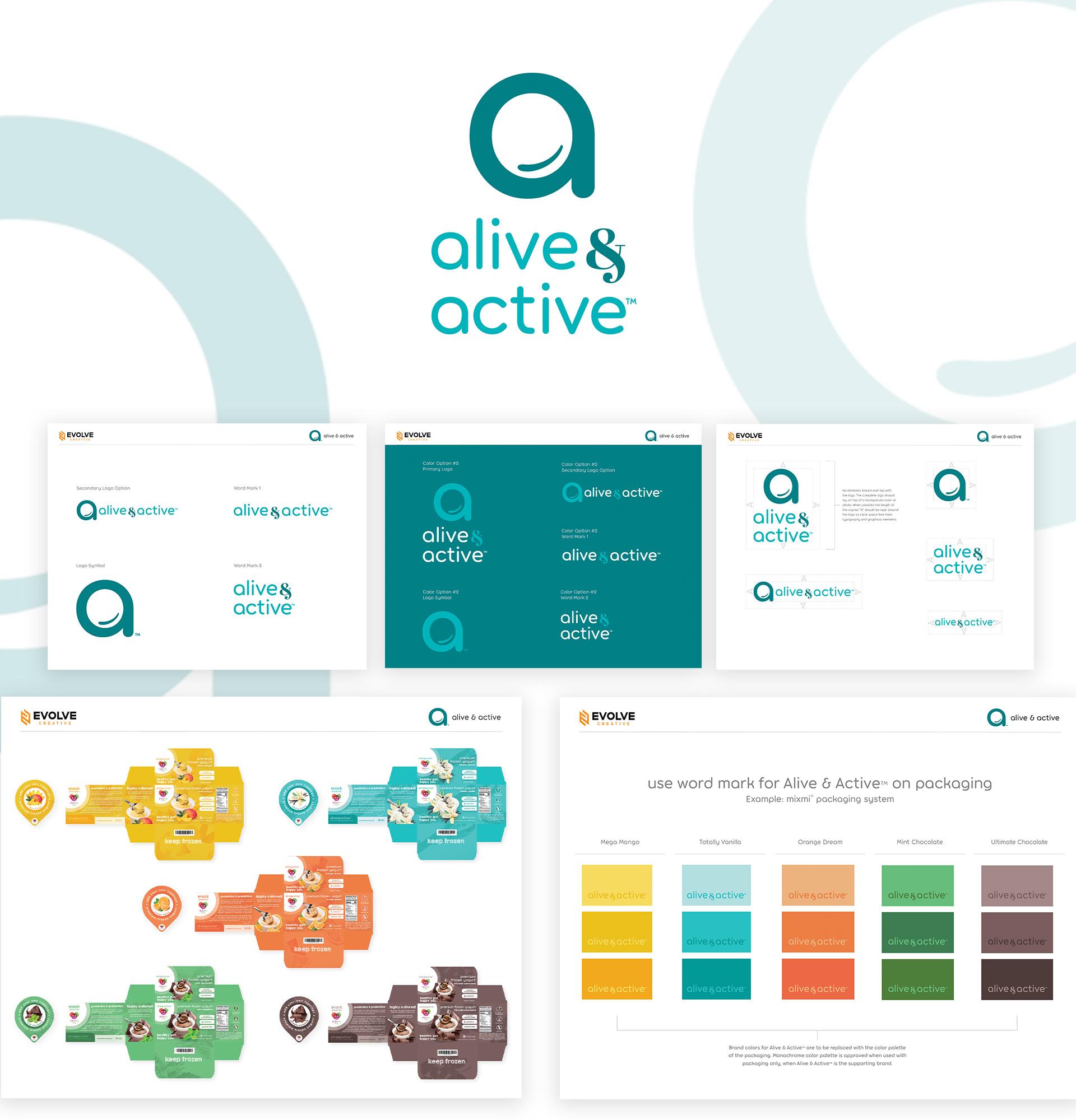 Alive & Active branding