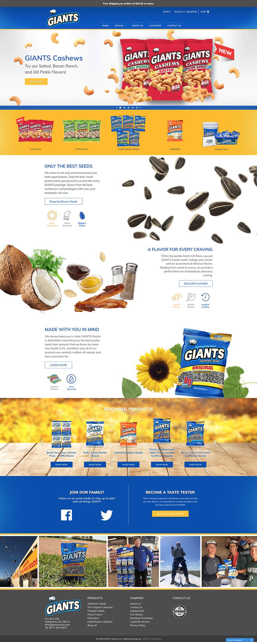 Giants Snack online store