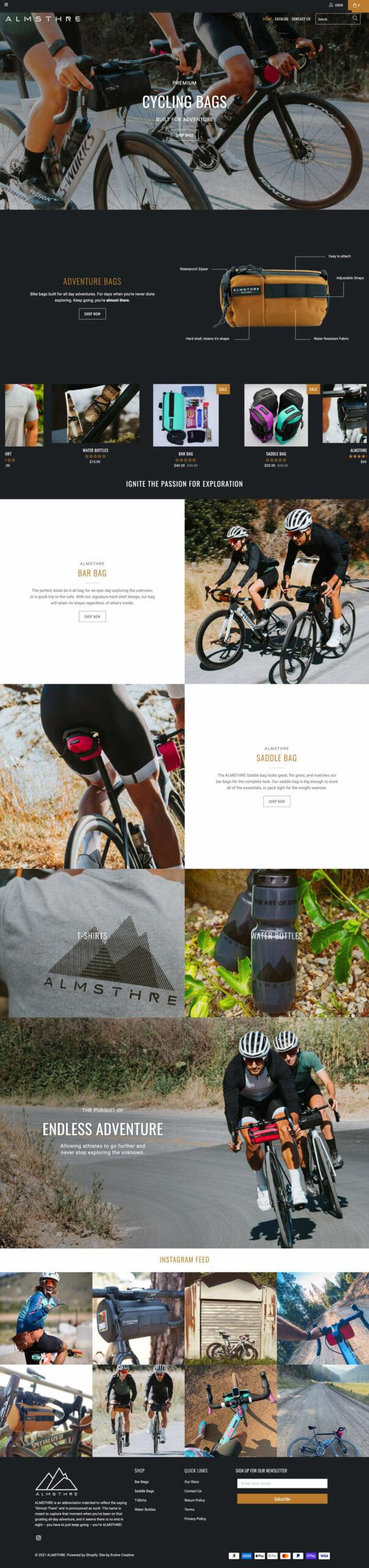 Almsthre biking products website