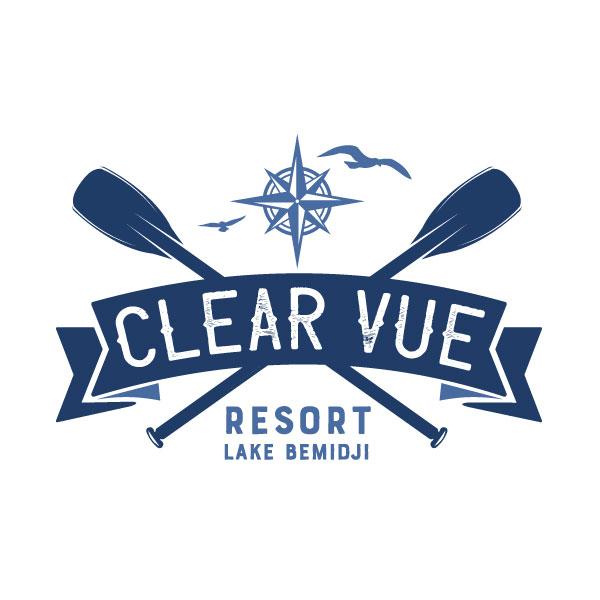 Clear Vue Resort Logo design