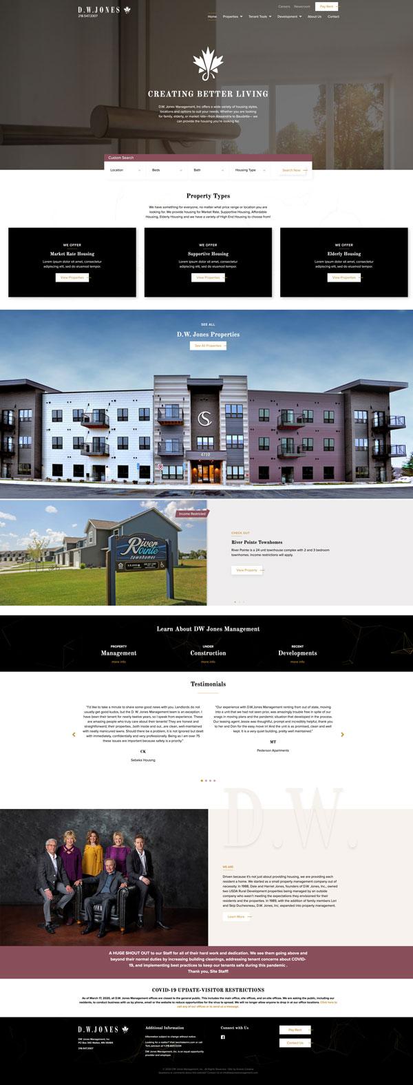 Property Management Website Development