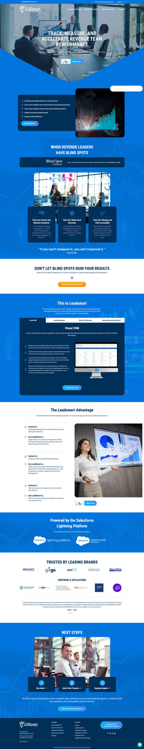 LeadSmart Technologies website redesign