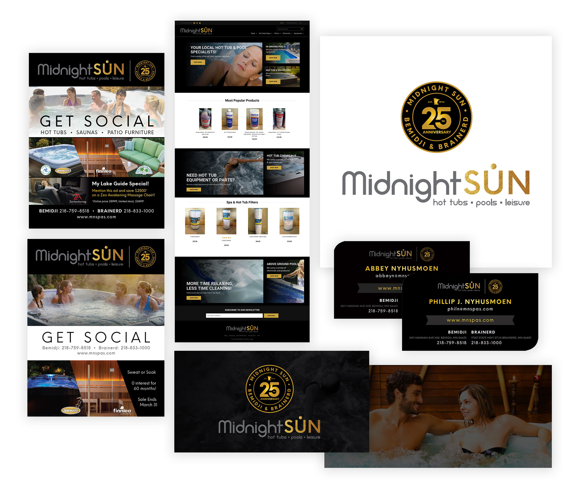 Midnight Sun Website & Branding