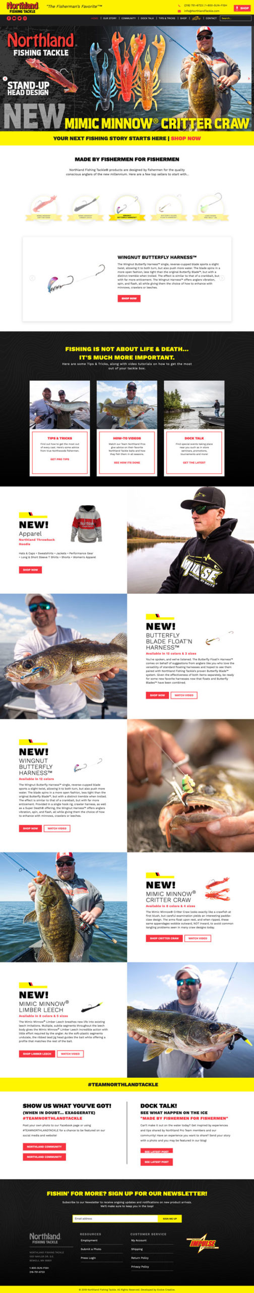 Northland Fishing Tackle Website