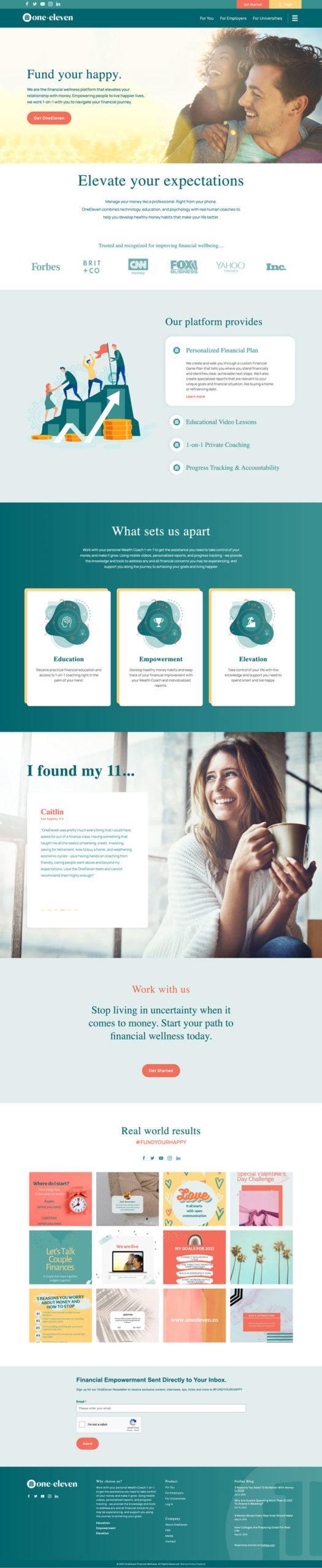 Eleven Website rebrand and website