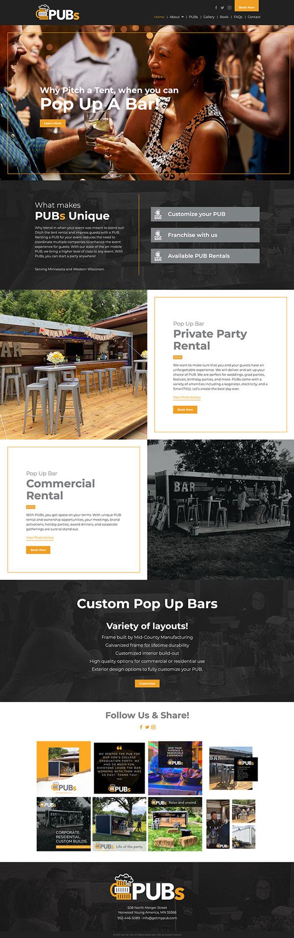PUBS website design