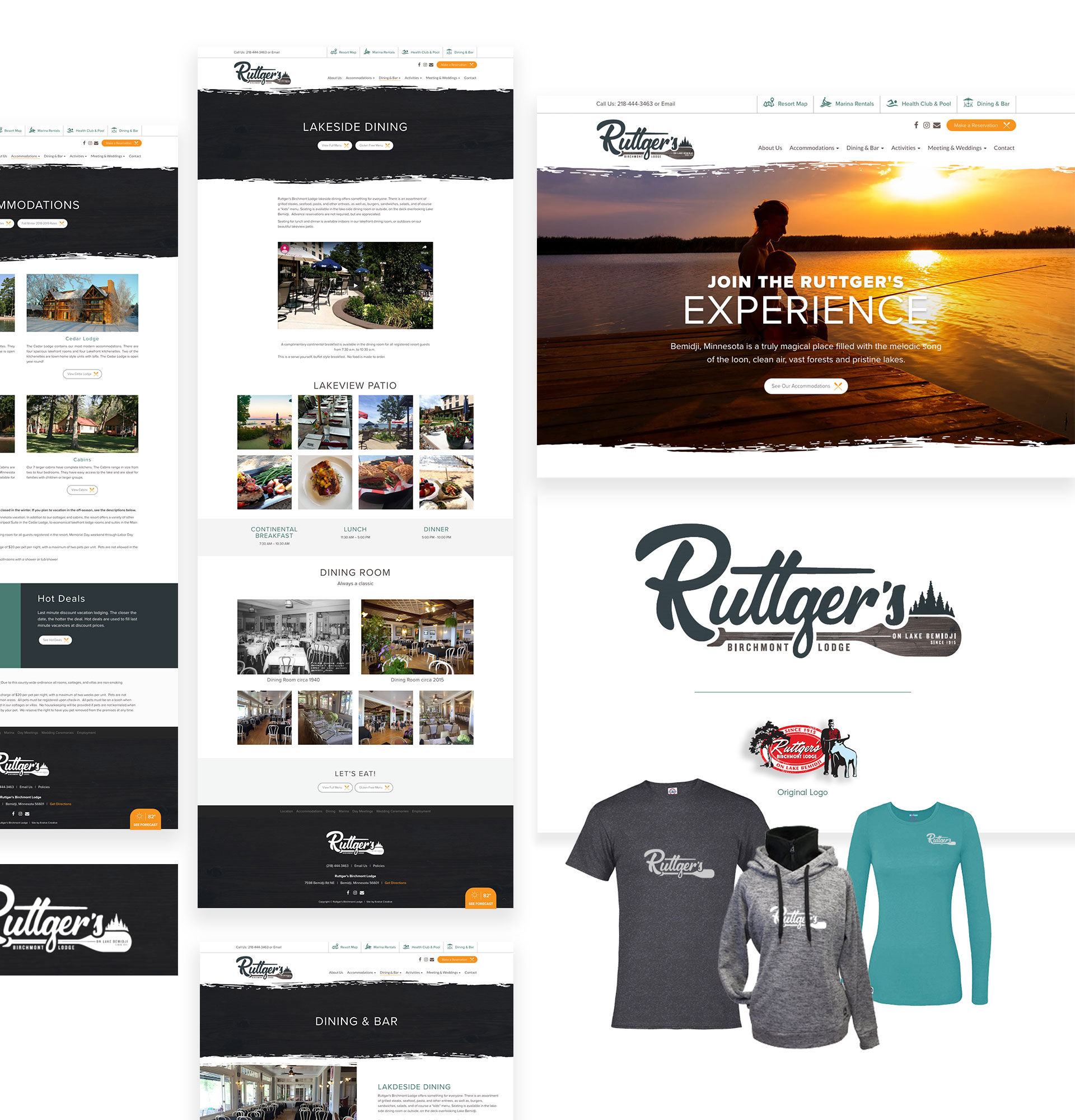 Ruttger Lodge Web Design Branding