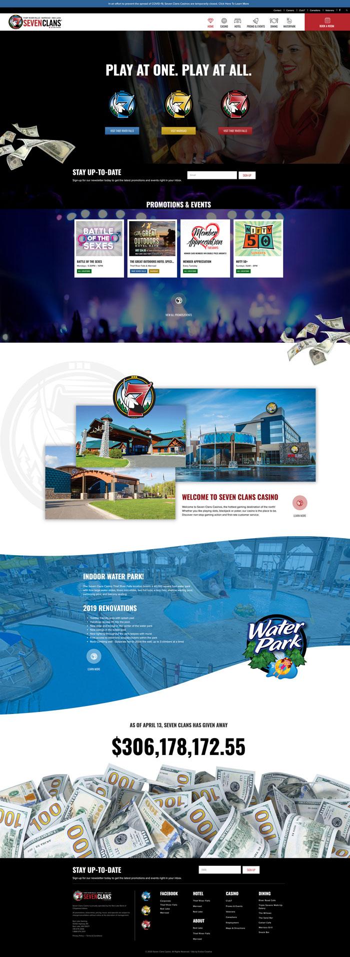 Seven Clans Casino website design