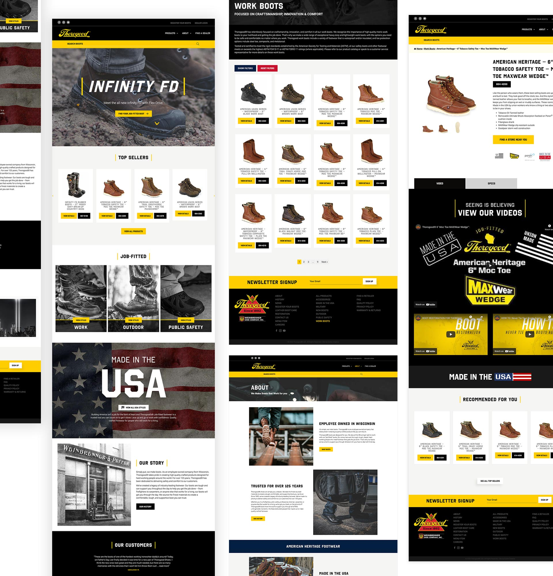 Thorogood Boots Website development