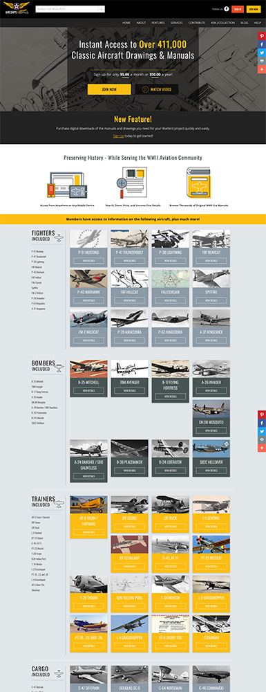 AirCorps Library Website
