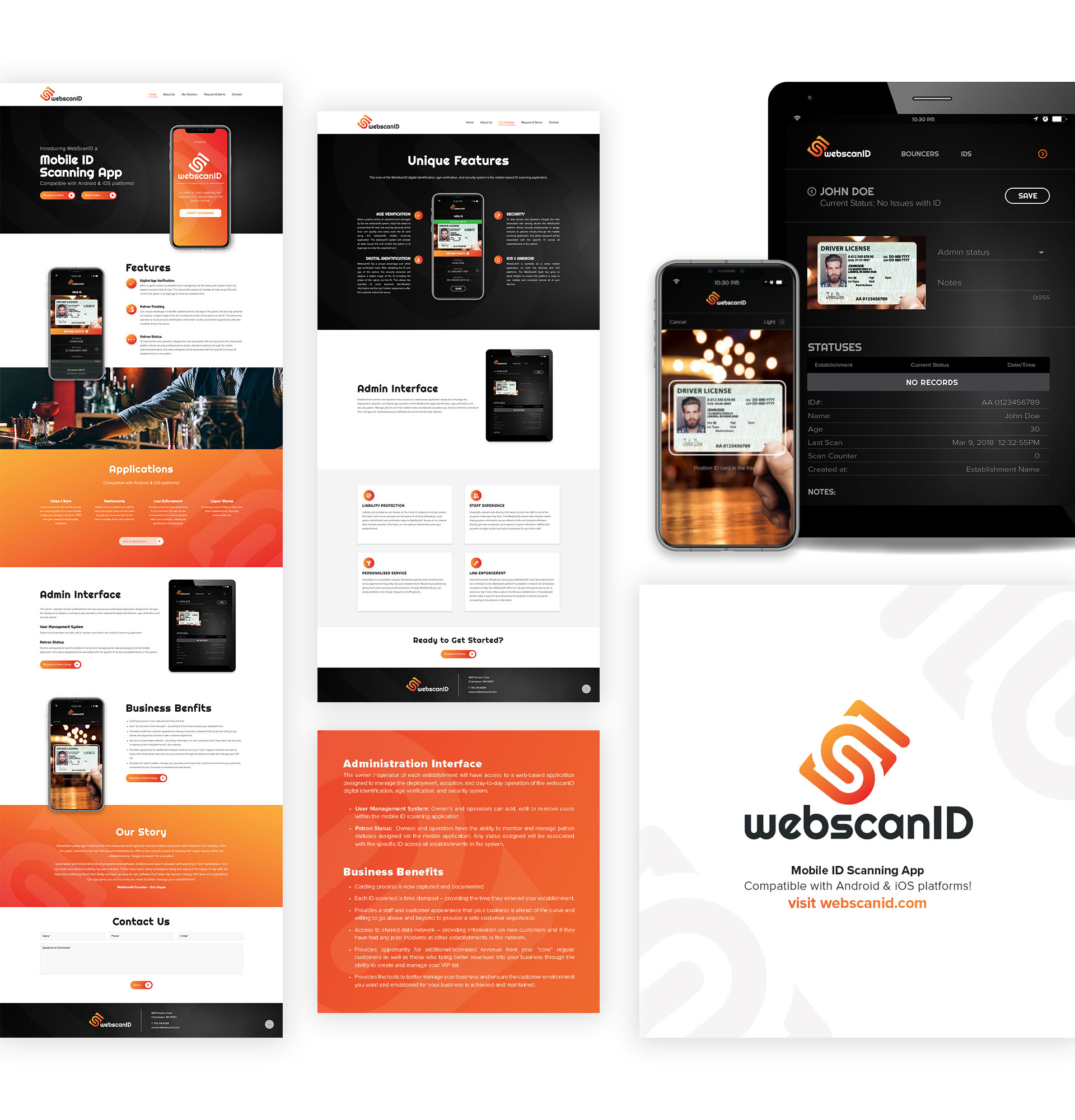 WebScanID Website & Branding