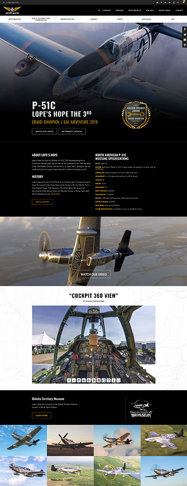 AirCorps Website Design