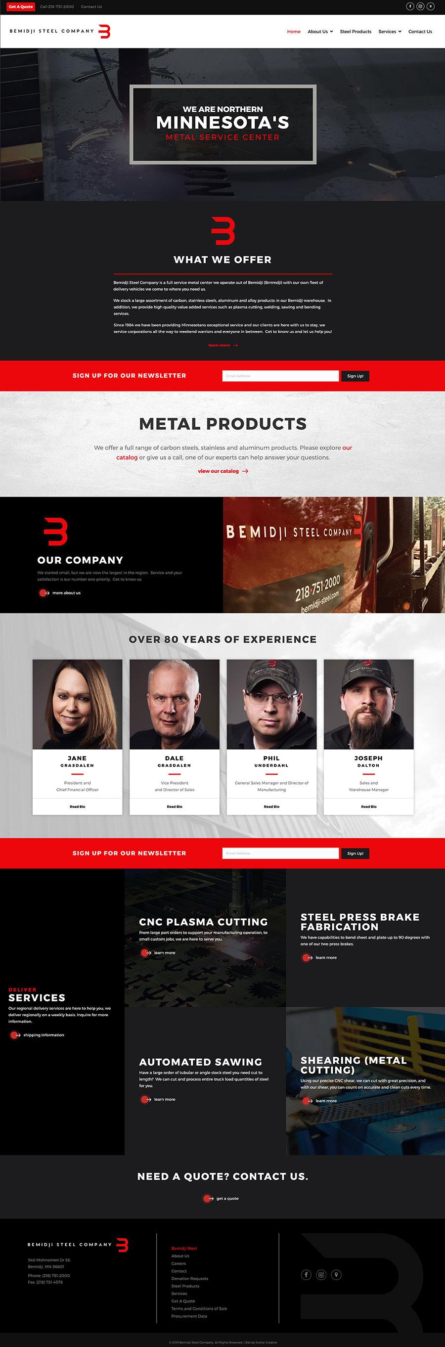 Bemidji Steel Website