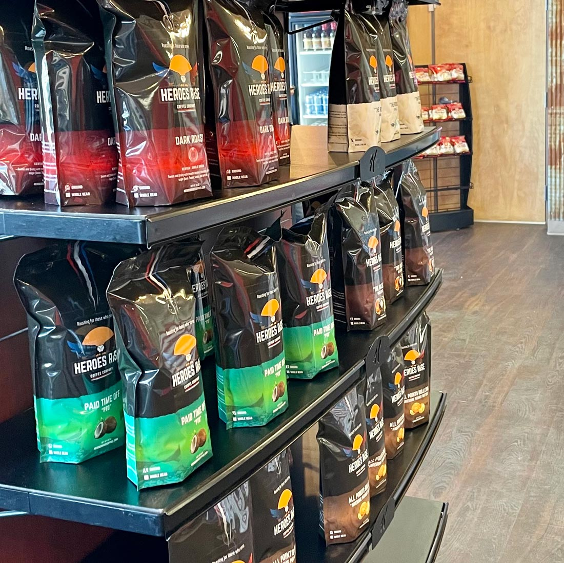 Coffee Bags on shelf