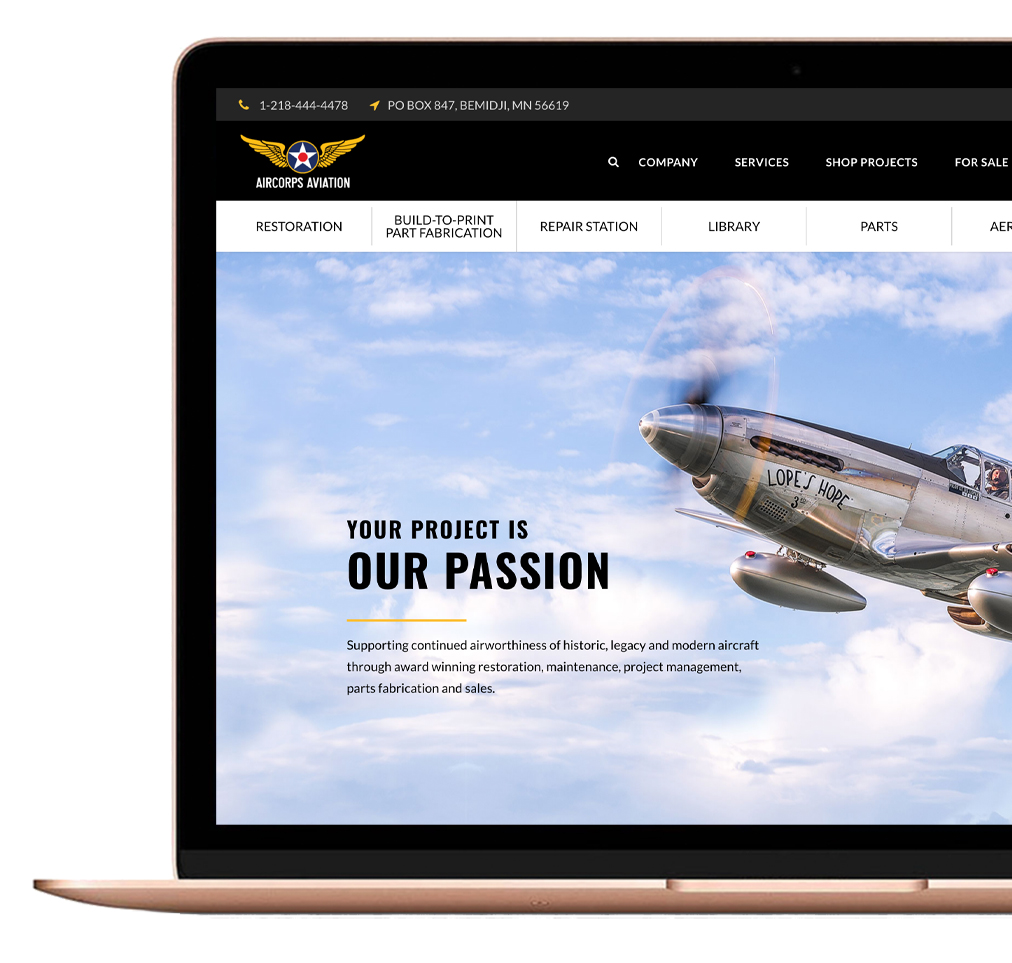 AirCorps Website
