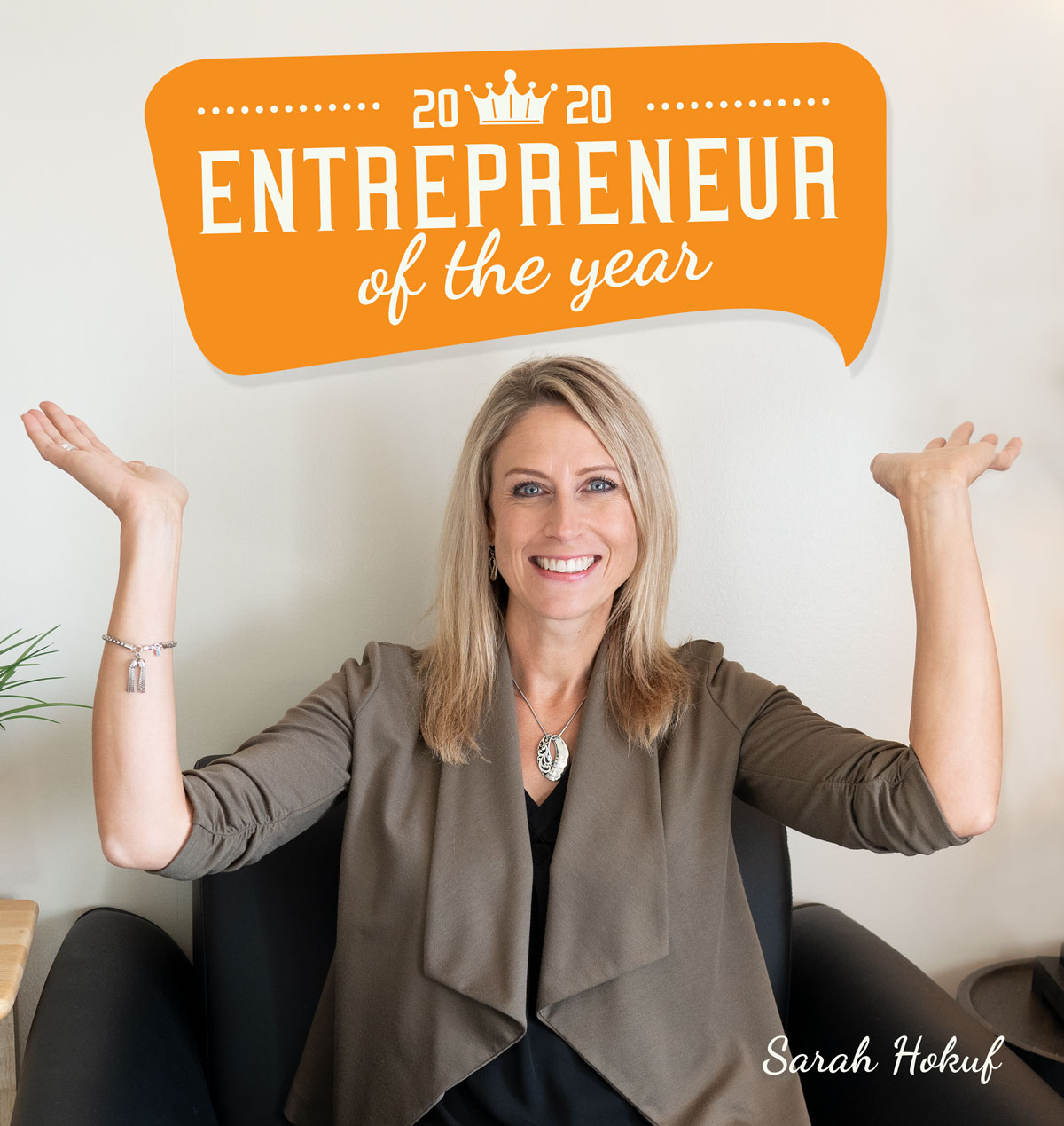 Sarah Hokuf wins Entrepreneur of the Year Award