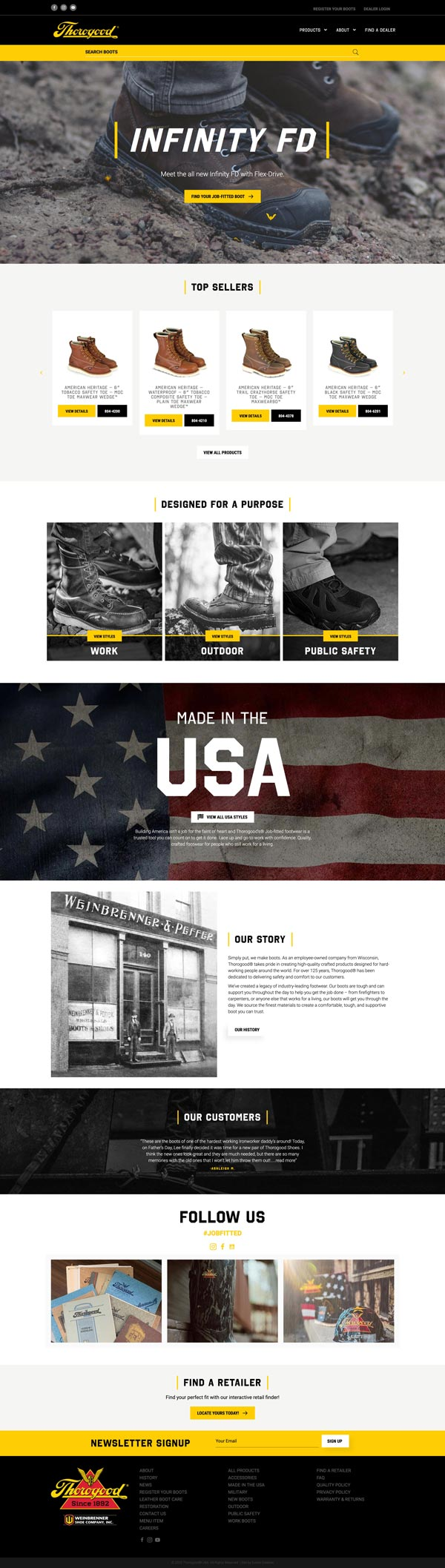 Thorogood USA Website