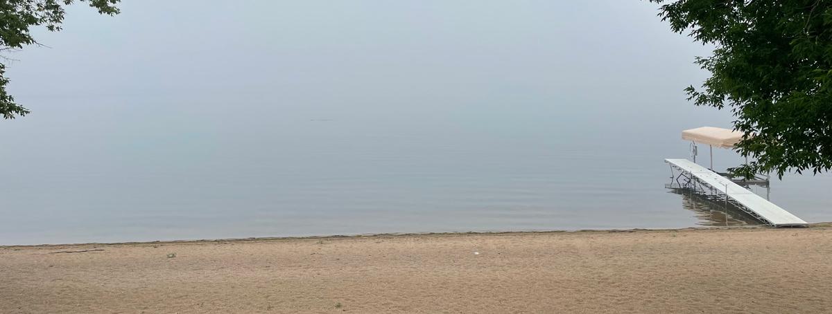 wildfire smoke lake